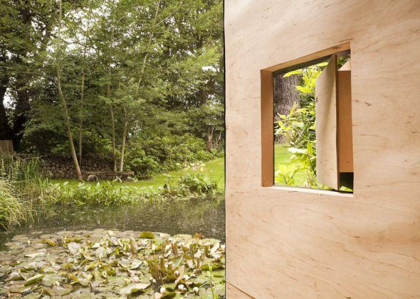 Casa del Estanque en el Bosque | Planos de Casas Gratis