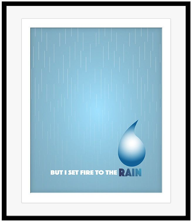 Details About Song Lyric Music Quote Print Poster Wall Decor Set