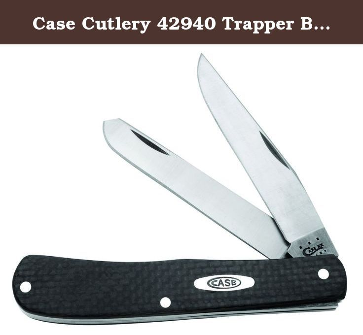 Case Cutlery 42940 Trapper Black Carbon Fiber Handle. The No.42940 Case Black Carbon Fiber Handle with Tru Sharp Surgical Steel Blades. The Trapper measures 4-1/8-Inch closed, and weighs 2.6-Ounce The unparalleled strength and lightweight quality of Carbon Fiber has made it the go-to reinforced polymer in high-end sporting goods, automotive, and even aerospace applications. Now Case brings the power of Carbon Fiber to pocket knives, and expanded its initial family to include new Medium...
