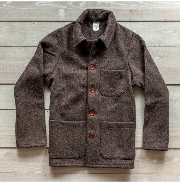 Natural Wool French Work Jacket Outerwear Men S Work