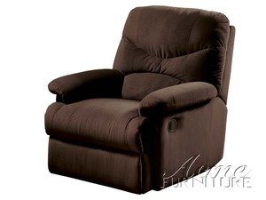 "Feature    contemporary glider recliner  microfiber chocolate finish  provide maximum support and comfort  extra smooth reclining and gliding  durable construction  assembly required  Dimension    Glider Recliner  38"" x 35"" x 40""H    http://www.unofurniture.com/servlet/the-18590/635%2C-Acme%2C-Living%2C-Room%2C/Detail"