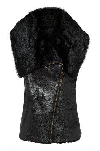 ice queen vest in BLACK