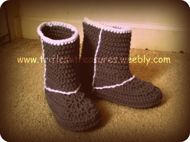 Crochet Ugg Boot Slipper Patterns Ladies Uggs Boots