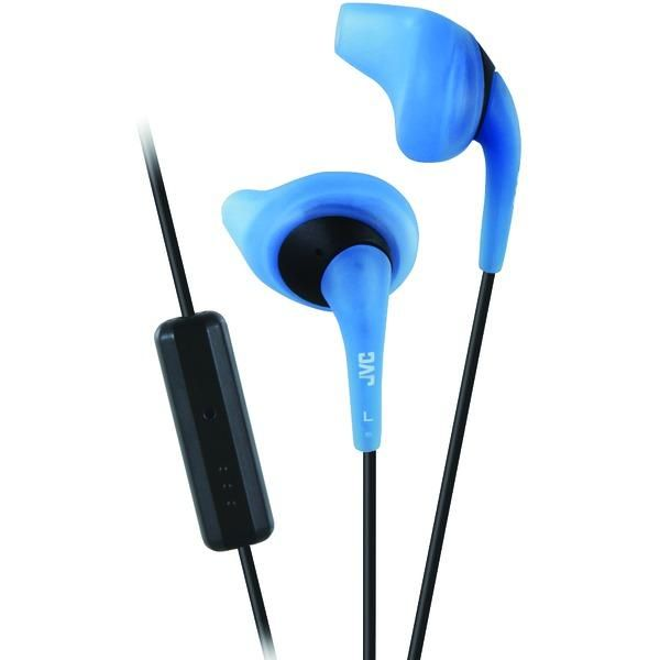 JVC HAENR15AM Gumy(R) Sports Earbuds with Microphone (Blue)