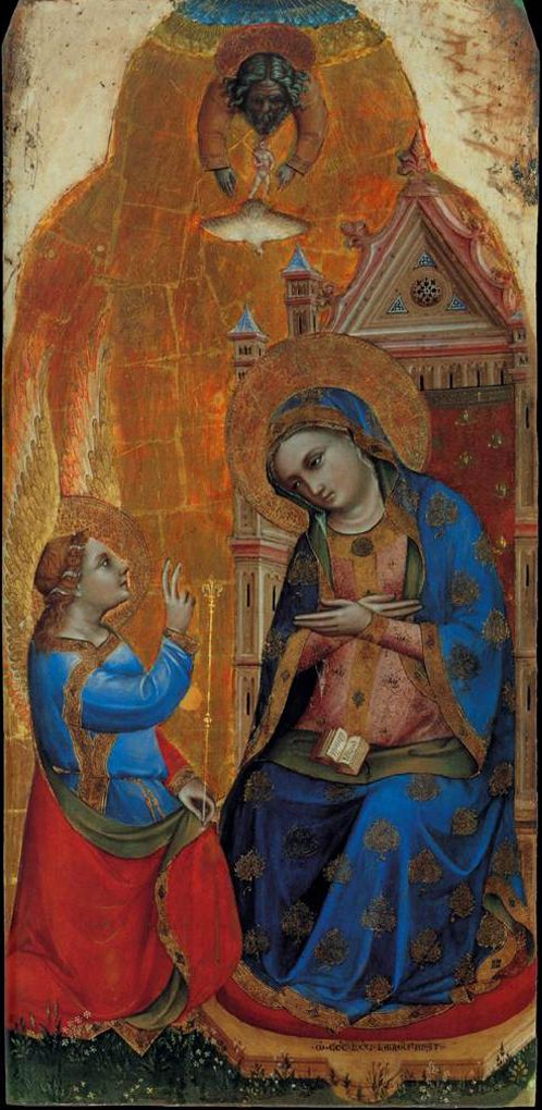 Lorenzo Veneziano ~ The Annunciation Polyptych (detail), 1371