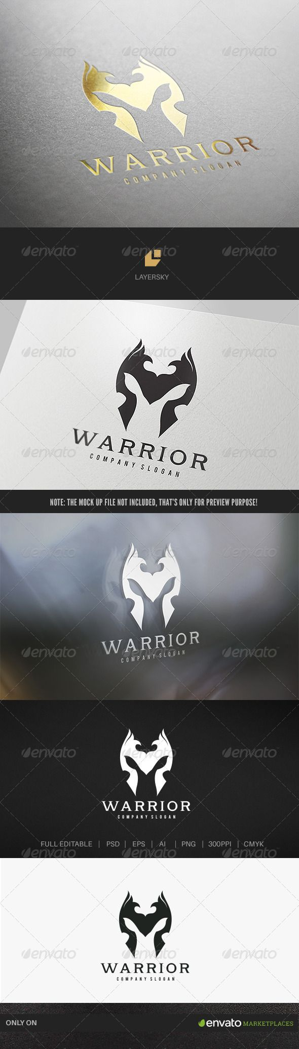 Warrior Logo — Photoshop PSD #Black Tortoise #viking • Available here → https://graphicriver.net/item/warrior-logo/7764566?ref=pxcr