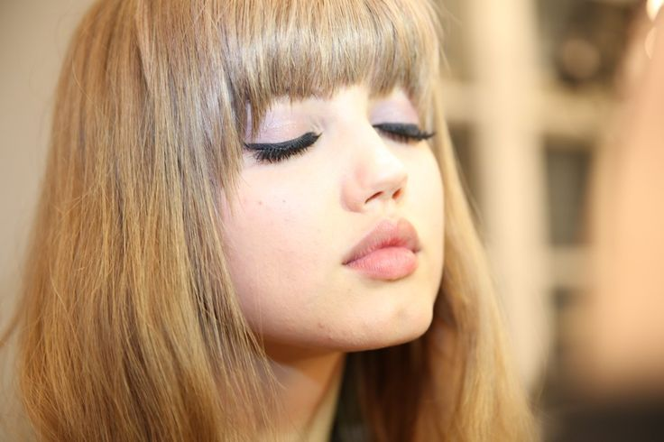 Lindsey Wixson backstage at Emilio Pucci RTW Fall/Winter 2013 #mfw ~ luscious #lashes