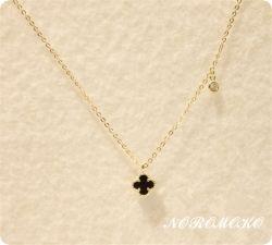 クローバー ネックレス 女性 人気 ネックレス プレゼント おすすめ k14ゴールド ダイヤ付き 四つ葉のクローバー ラッピング済み