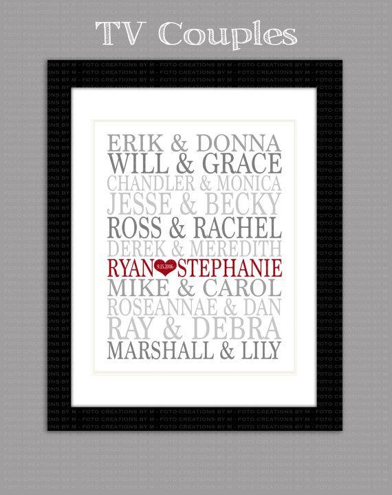 This is SO me for the wedding.Couples I want: Rory & Jess...Luke & Lorelei...Nathan & Haley...Mr Big & Carrie...Ross & Rachel...Noah & Allie...Vivienne & Edward...Doug & Carrie...Danny & Sandy...Baby & Johnny...Eliza Doolittle & Mr.Higgens...Romeo & Juliet...Jack & Rose.