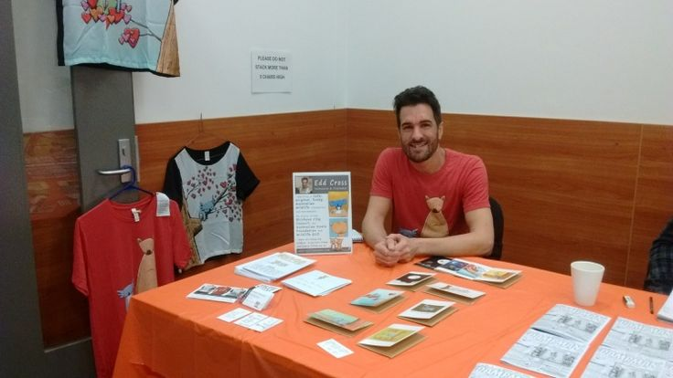 ... And here's a photo of my table from today's Comic Marketplace event at Garden City Library in Brisbane.  It was a really nice morning... sold a few things and networked with some awesome creatives.