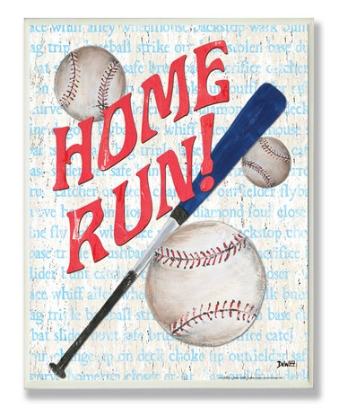 'Home Run!' Rectangular Wall Art from The Kids Room by Stupell on #zulily!