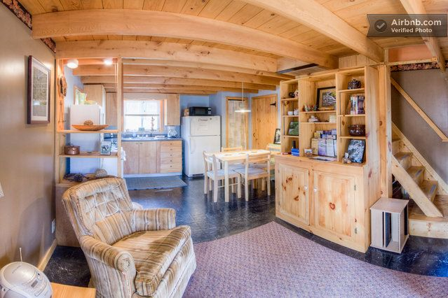 Tiny House in Finger lakes. Cute! The décor, not so much. Love the loft! https://www.airbnb.com/rooms/369293?af=1726391&c=direct_link
