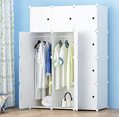MEGAFUTURE Portable Wardrobe for Hanging Clothes, Combination Armoire, Modular Cabinet for Space Saving, Ideal Storage Organizer Cube for books, toys, towels(12-Cube, Extria Stickers Included) #MEGAFUTURE #Portable #Wardrobe #Hanging #Clothes, #Combination #Armoire, #Modular #Cabinet #Space #Saving, #Ideal #Storage #Organizer #Cube #books, #toys, #towels( #Cube, #Extria #Stickers #Included)