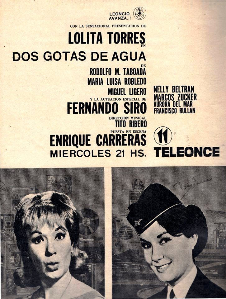 Publicidad de programación. Canal 11, Buenos Aires, 1964.