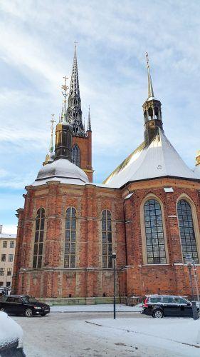 Riddarholmen Church (Riddarholmskyrkan) in Stockholm