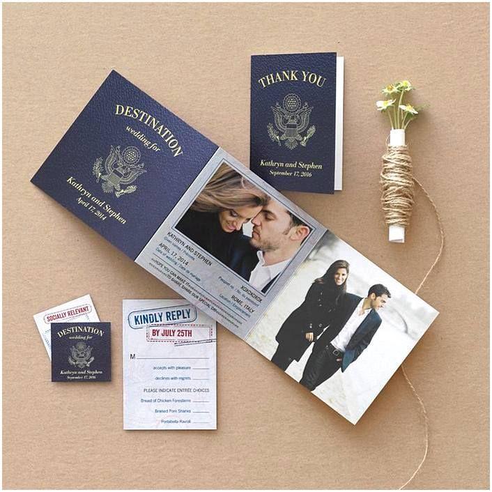 Airline Ticket Wedding Invitations Beach Wedding Invites Passport Wedding Invitations Destination Wedding Invitations