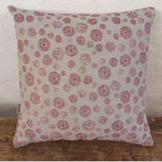 Cushion, Wildflower (red)