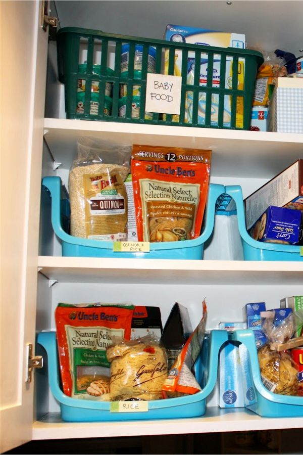 Small Apartment Kitchen Storage Ideas Use Baskets And Bins In Cabinets