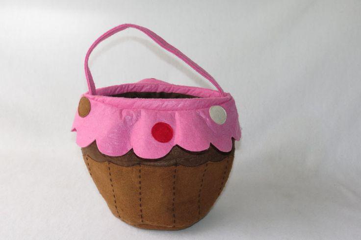 Pottery Barn Kids Cupcake Halloween Costume Brown Polka Dot Trick or Treat Bag  #PotteryBarnKids