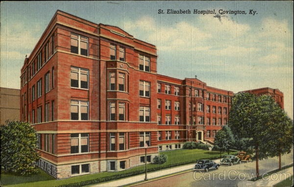 This is St. Elizabeth Hospital, Covington, KY, in which I was born.