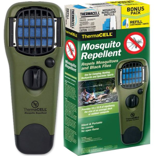 Thermacell Olive Appliance & Free Refill Combo Pack (24 Hours) - Do not let those pesky mosquitoes ruin your outdoor fun this summer! Get your Thermacell Mosquito Repellent appliances and accessories today! All Thermacell Appliances and Accessories are in stock at Eagle Archery!