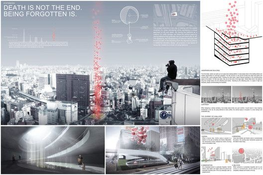 Tokyo Vertical Cemetery Competition Winners Announced,Courtesy of Arch Out Loud