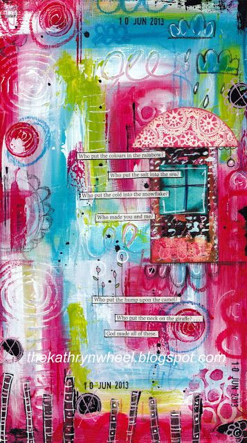 The Kathryn Wheel   I like this art journal page! {art journaling styles}   Pinterest   Art, Journal and Art journal inspiration