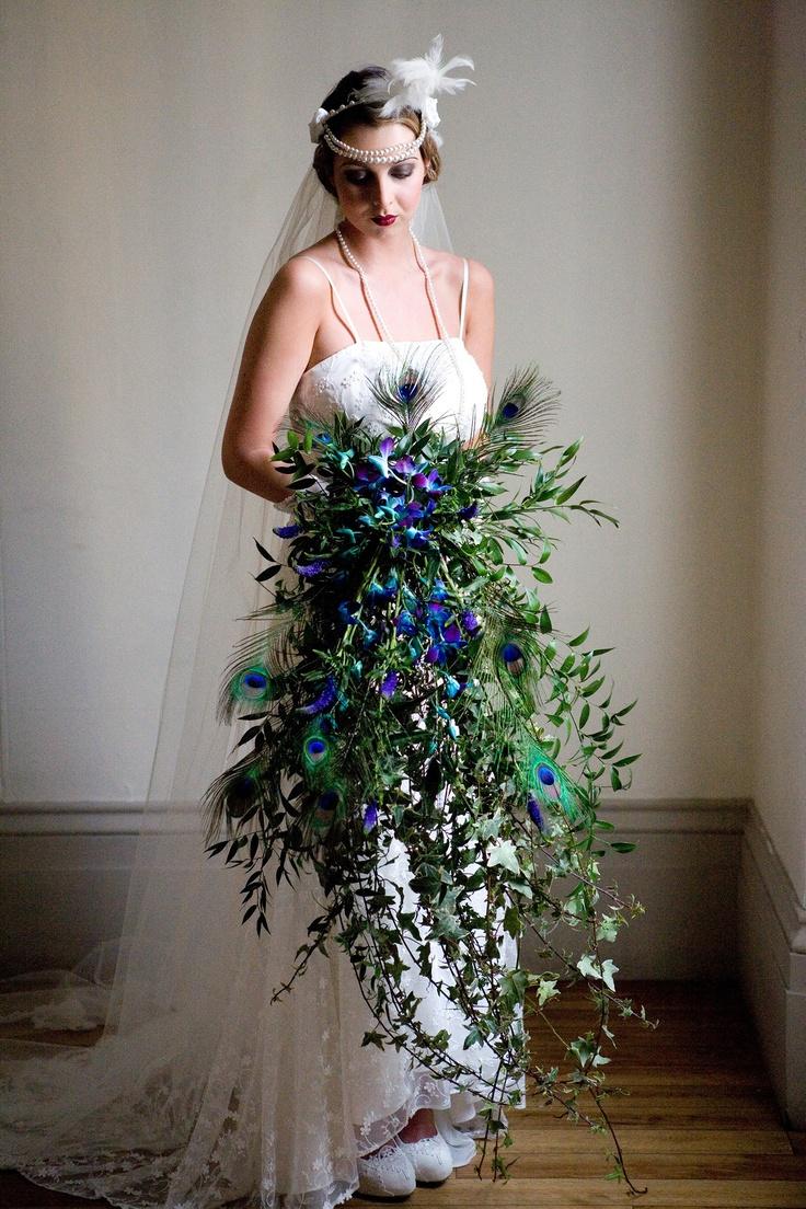Downton Abbey 1920's style wedding bouquet. Wedding style bouquet. Great Gatsby wedding style http://www.blushrose.co.uk/manchester-wedding-florist/
