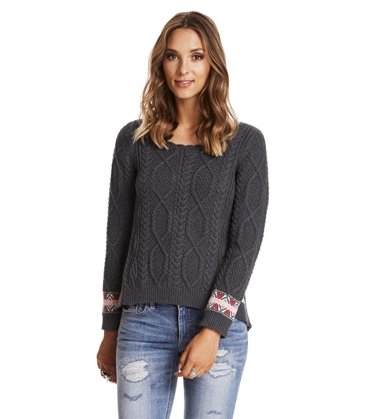 Majestic Sweater grey