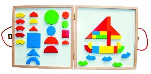 Woody   Magnetický kreativní kufřík s tvary  | MALL.CZ