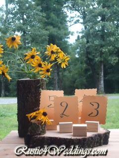 Rustic 4 Weddings Wedding Place Card Holders Table Number