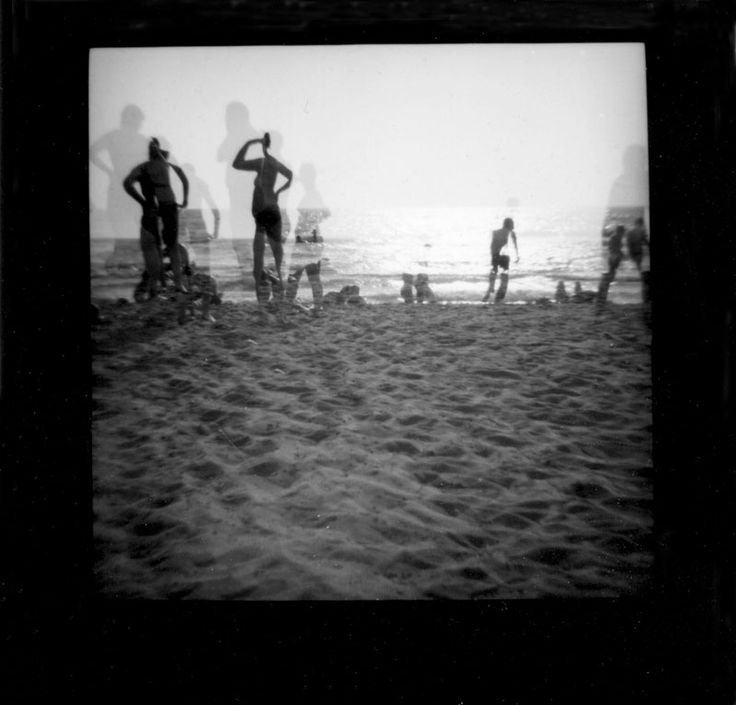 Liguria, on the beach. Analogue photography, shot made with 120mm black and white film. Camera - Lomo Diana F+  To see more of my analogue photography go to www.susannefoldal.com