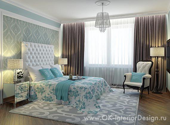дизайн бирюзовой спальни - Поиск в Google