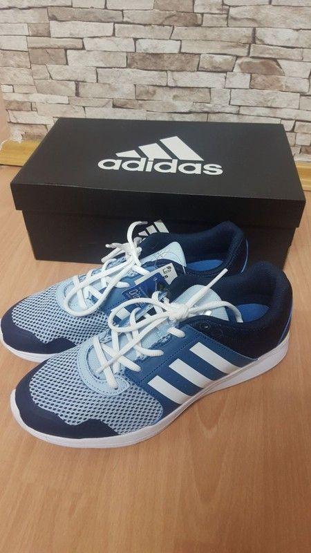 Schuhe von Adidas Sneaker blau weiß