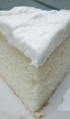 White Almond Wedding Cake Recipe ~ Says: So simple yet full of flavor... truly the BEST white cake recipe!