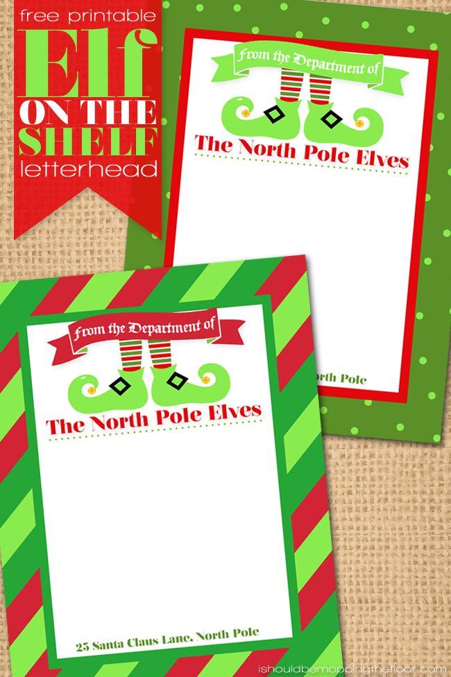 Free Printable Elf on the Shelf Letterhead RH Contributors