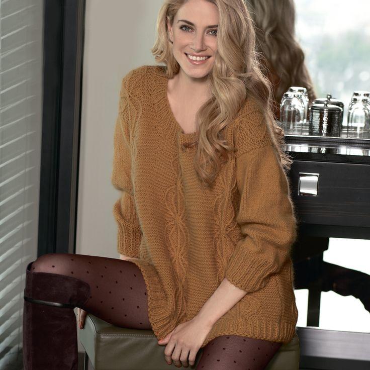 Длинный пуловер - схема вязания спицами. Вяжем Пуловеры на Verena.ru