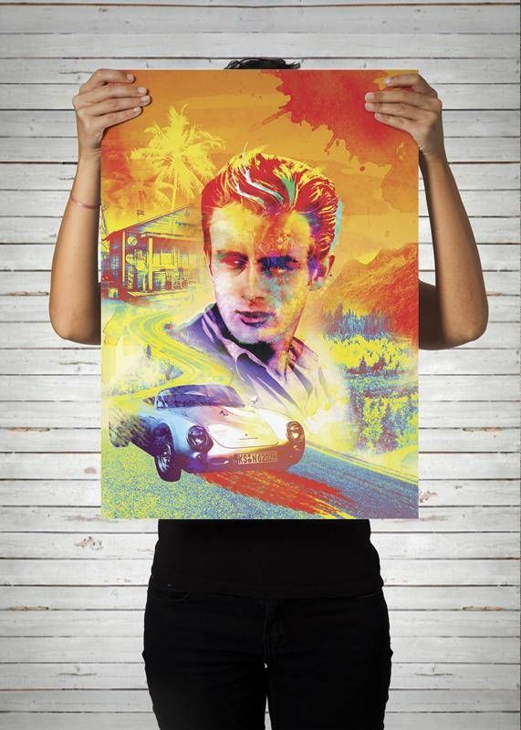 Poster James Dean / Artista Alex Guenther