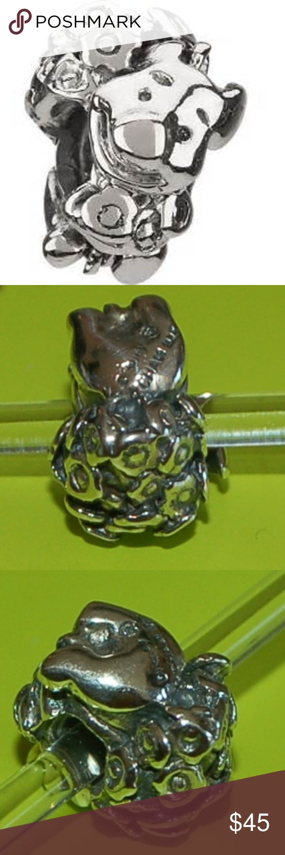 Authentic Chamilia PIGLET WITH FLOWERS Bead Chamilia Disney Winnie the Pooh~PIGLET WITH FLOWERS~ Sterling Charm Bead   Keep the magic of childhood dreams alive with the Chamilia Sterling Silver Disney PIGLET WITH FLOWERS from Winnie the Pooh Charm Bead  Chamilia No. DIS-21; Sterling .925 Silver  No Longer Produced & Retired!!  ~~~ A Great Addition To Your Chamilia/Pandora Disney Bracelet Collection ~~~ Chamilia Jewelry Bracelets