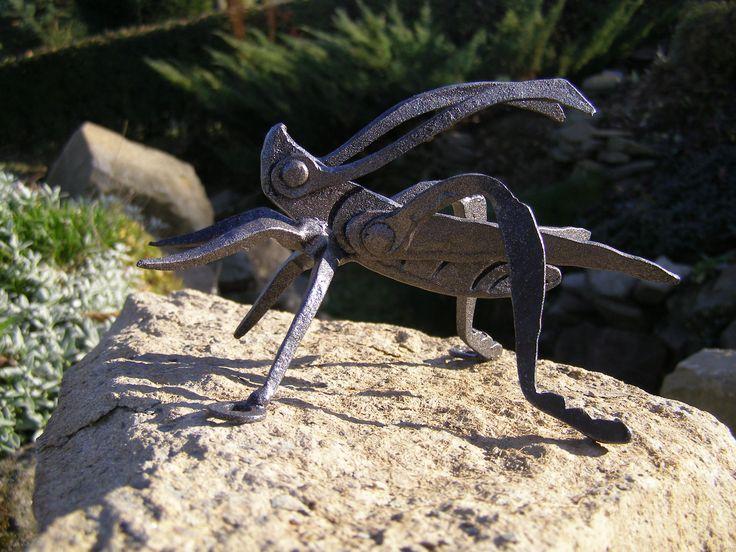 Metal art sculputre cricket. See more my work: https://www.facebook.com/OGNIK-kowalstwo-artystyczne-Szalowa-1536036913329982/?ref=hl  Kuty świerszcz, mojej produkcji ;)