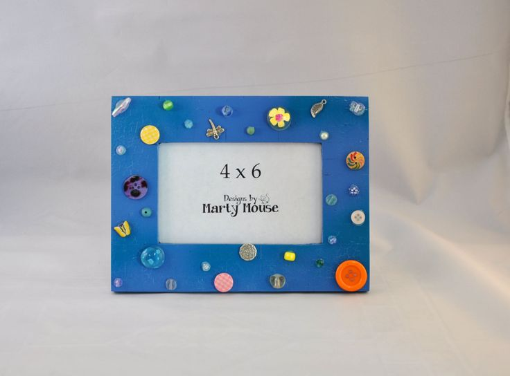 Blue Picture Frame/ 4x6 Picture Frame/Kids Picture Frame/ Dragonfly Picture…
