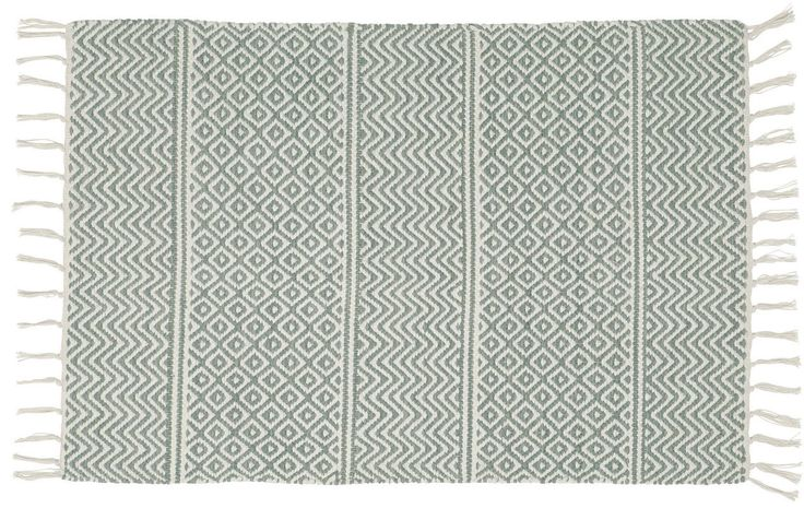 Our new Iris pale green and white cotton rug is now available on our website! visit www.skandihome.com to find out more!  Scandinavian rag rugs and runners sourced from Sweden and Denmark - make your home hygge-filled and simply scandi!