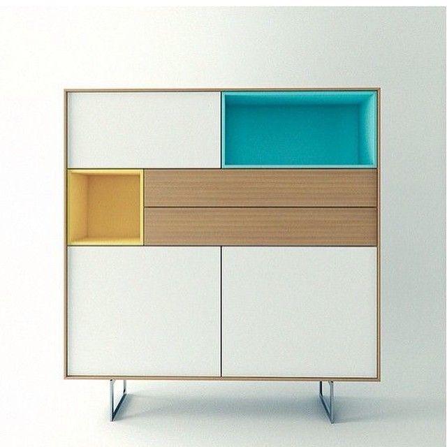 Mueble para habitación en tonos pastel.