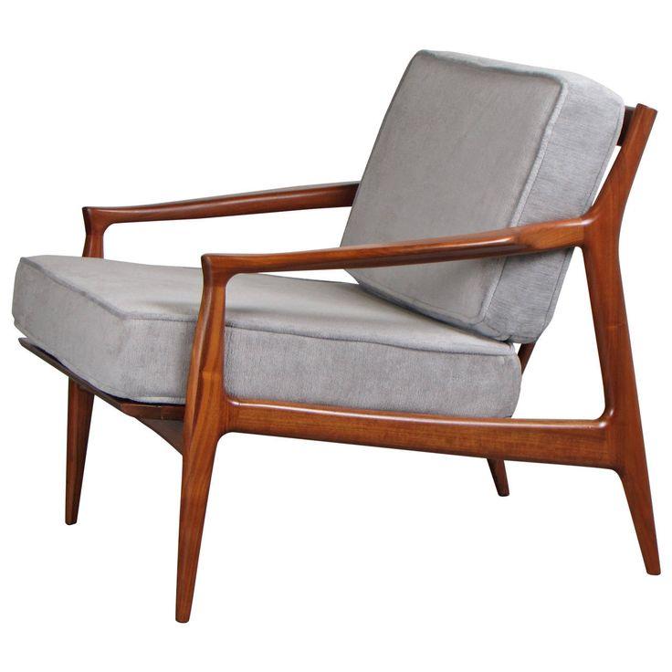 Sculptural Danish Modern Teak Lounge Chair by Ib Kofod-Larsen, 1960s