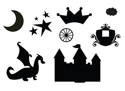 Princesses, dragon, moon, stars, carriage, crown, castle and cloud... free svgs! ~ KLDezign SVG