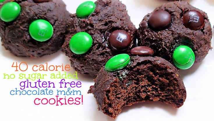 Healthy Gluten Free Chocolate Cookies! – Simply Taralynn  *dark chocolate m&ms,  *3 medium eggs or 2 large eggs, *4 tbsps coconut oil, *1 tsp vanilla extract, *1 tsp baking soda, *1/2 tbsp baking powder, *2 medium/small ripe avocados, *1 cup all-purpose gluten free flour or 1 cup whole wheat flour, *1 cup baking stevia in the raw, *3/4 cup unsweetened coco powder.