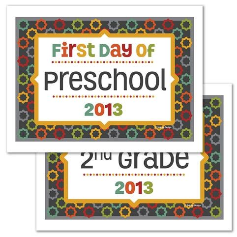 your child's first day of school. These printables include first-day ...