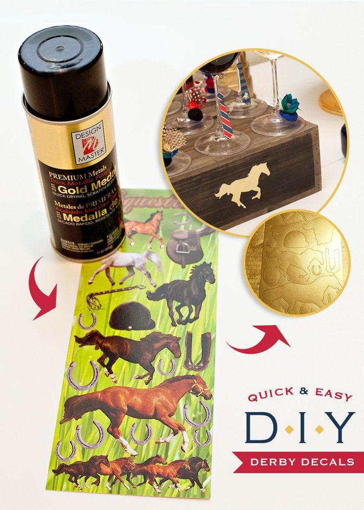 Kentucky+Derby®+Party+DIY:+Gold+Horse+Decals