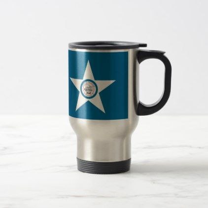 Flag of city of Houston Texas Travel Mug - home decor design art diy cyo custom