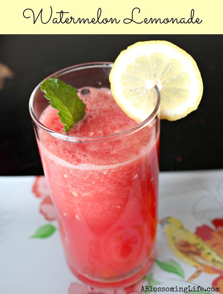 Watermelon Lemonade. Refreshing light lemonade perfect for spring!